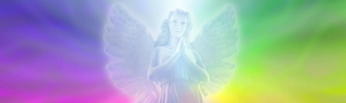 Chakra-Harmonisierung, Bannerbild mit Engel